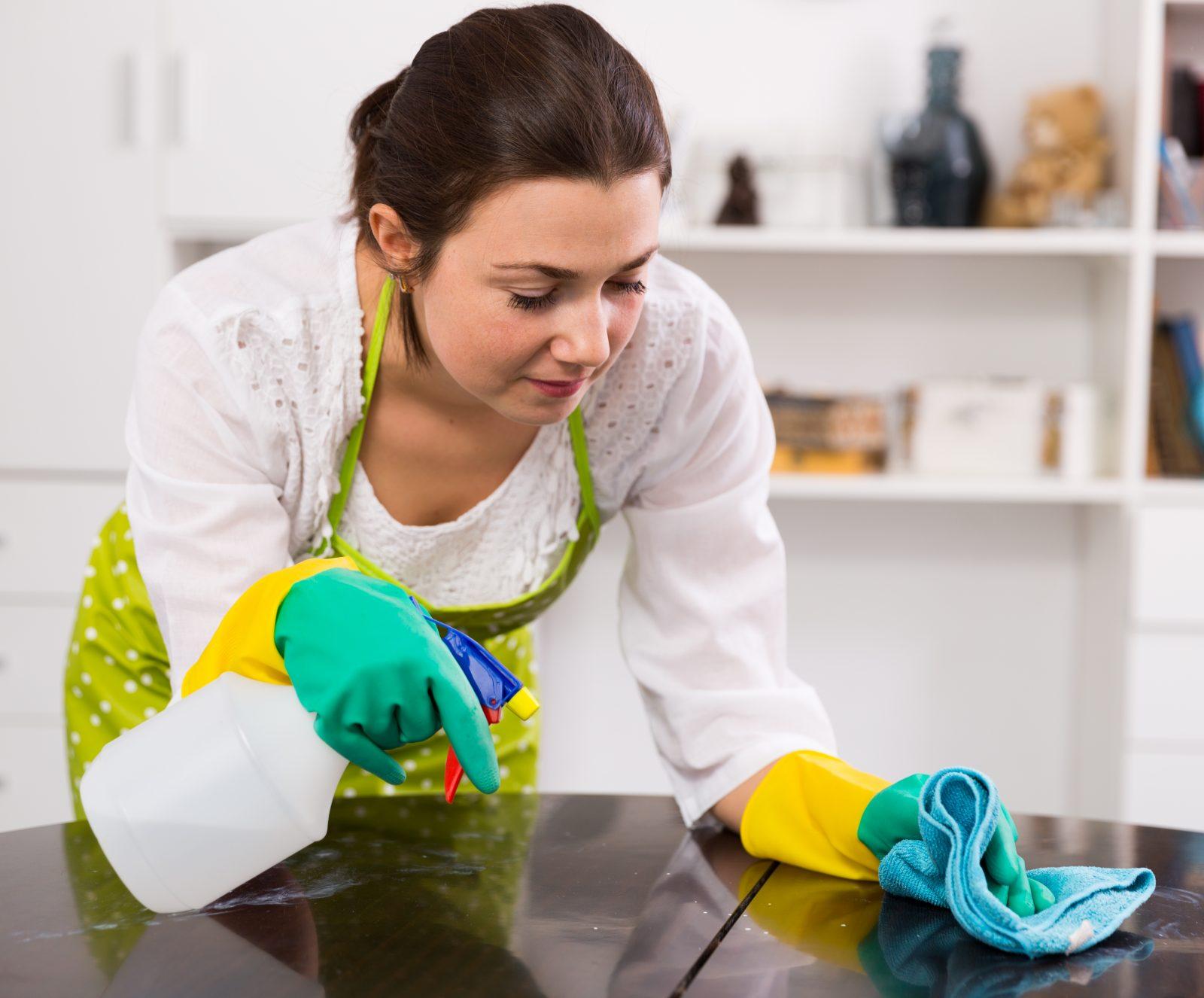 frecuencia con la que hay que limpiar cada parte de la casa