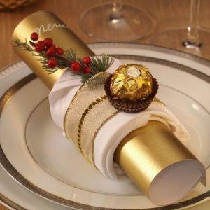 Servilleta con decoración navideña